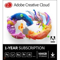 Adobe Lightroom 6: Adobe Creative Cloud Individual (all apps) | Subscription | 1Year | 100GB Cloud
