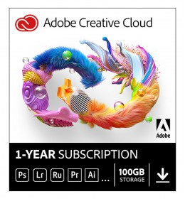 Adobe Creative Cloud Individual (all apps) | Subscription | 1Year | 100GB Cloud