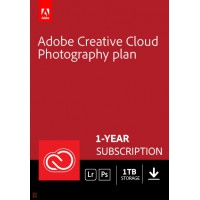 Multimedia: Adobe Photography Plan (Photoshop CC + Lightroom CC) | 1 User | 1year | 1TB cloudstorage