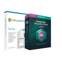 Microsoft 365: Microsoft 365 Family + Kasperky Cloud Protection | 6 Users|