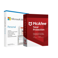 Microsoft 365: Microsoft 365 Personal + McAfee Protection | 1 User
