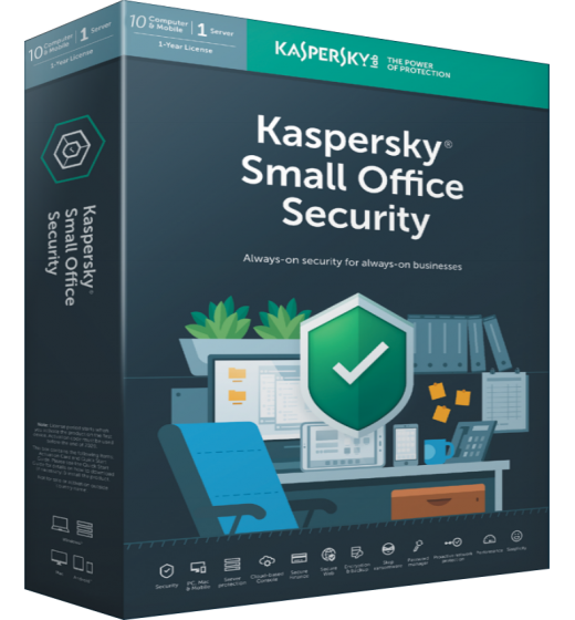 Business antivirus: Kaspersky Small Office Security 10PC+1FS 1year