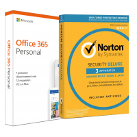 Voordeelbundel: Office 365 Home + Norton Security Deluxe 5 devices 1 year