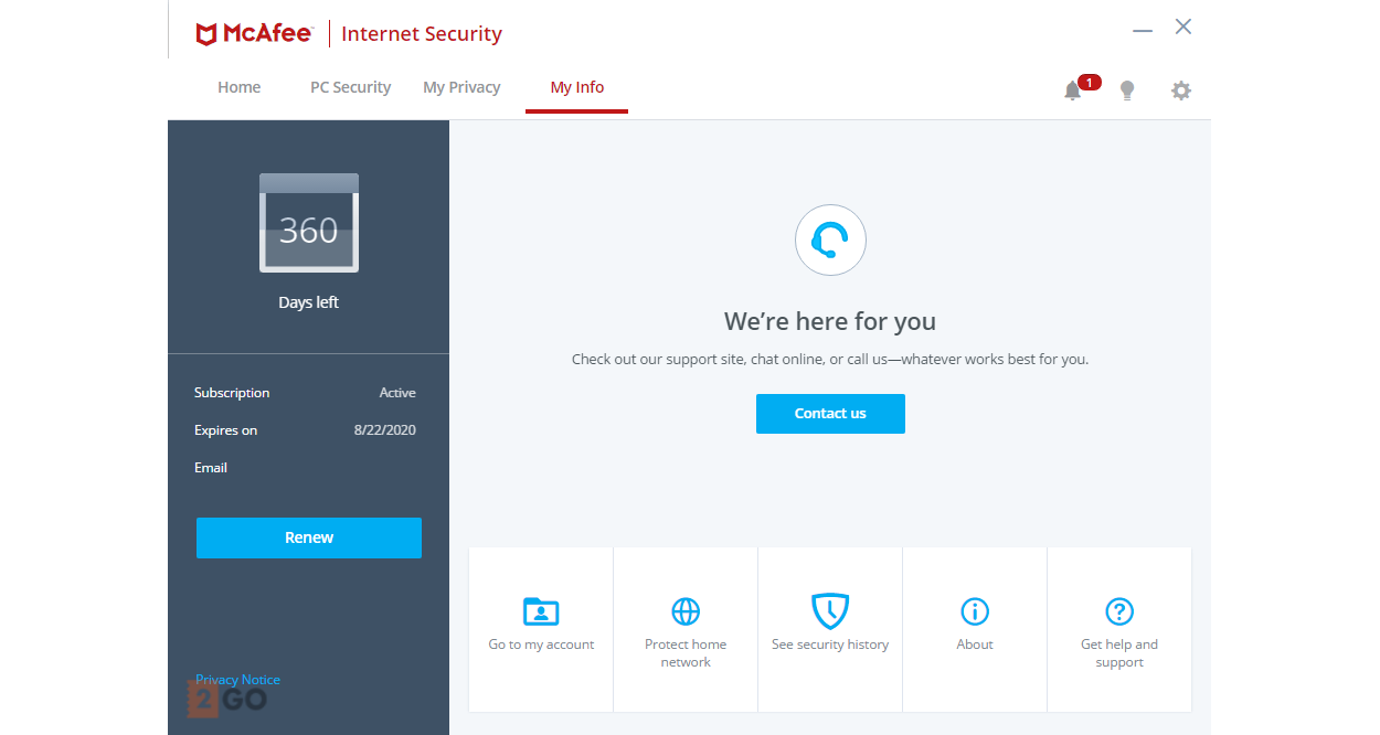 McAfee Internet Security Multi-Device 3-Devices 1year 2020