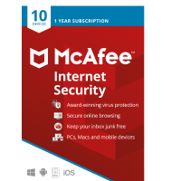 Security: McAfee Internet Security Multi-Device 10-Devices 1year 2021