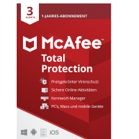Total Security: McAfee Total Protection Multi-Device 3 Geräte 1Jahr 2021