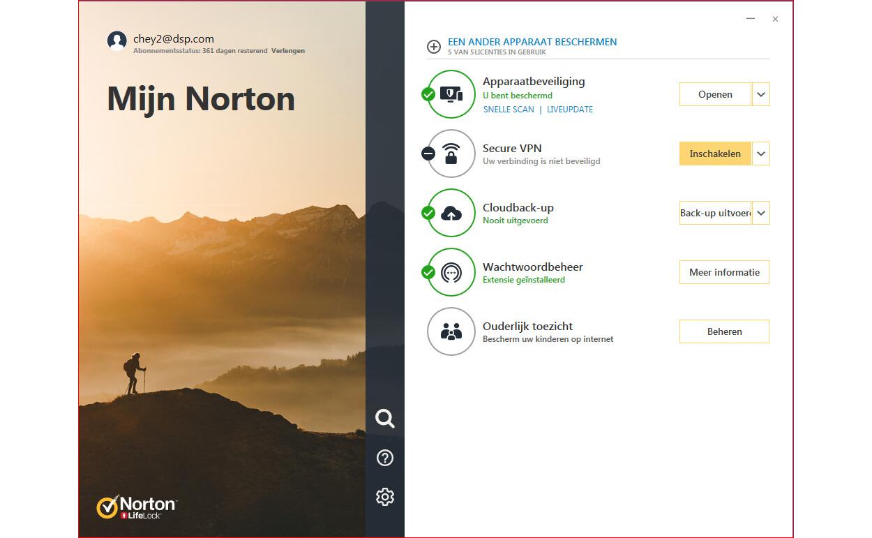 Norton 360 Deluxe | 5Apparaten - 1Jaar | € 10,- cashback | Multi-Device