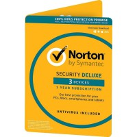Security: Norton Security Deluxe 3-Devices 1Year2021 - Antivirus Included - UK-Edition