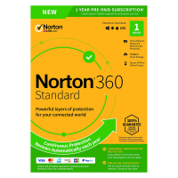 Security: Norton 360 Standard | 1Device - 1Year | Windows - Mac - Android - iOS | 10Gb Cloud Storage