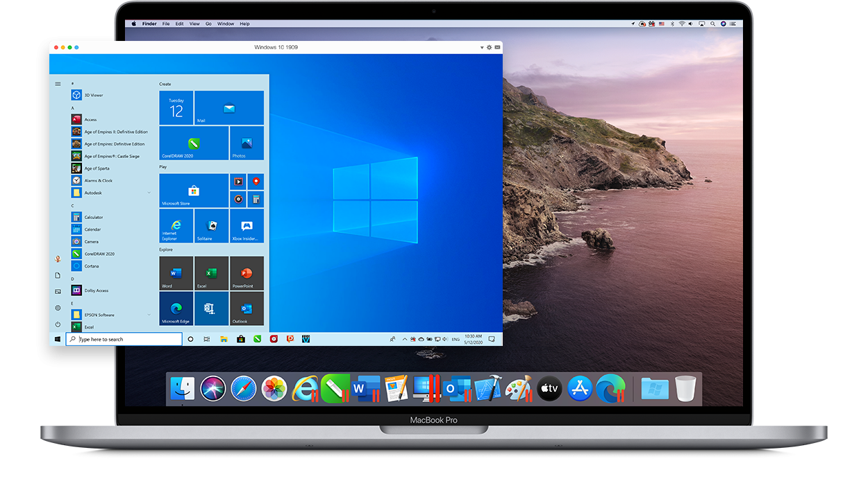 Parallels Desktop 16 for Mac | One-time purchase | 1 installation + Windows 10 Home (N)