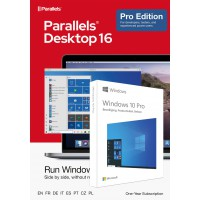 Operating Systems: Parallels Desktop 16 PRO for Mac | 1Year | 1 installation + Windows 10 Pro