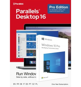 Parallels Desktop 16 PRO for Mac | 1Year | 1 installation + Windows 10 Pro