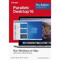 Operating Systems: Parallels Desktop 16 PRO - 1Year - Home users & Professionals | 1 installation