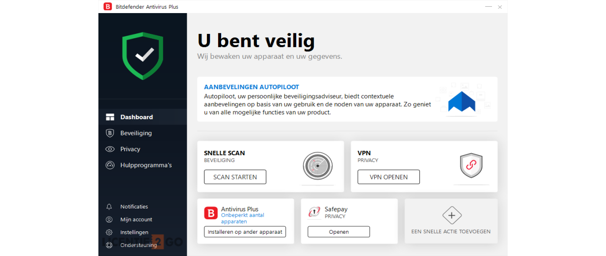 Bitdefender Antivirus Plus 2021 | 1PC | 1jaar | Windows 10, 8, 7