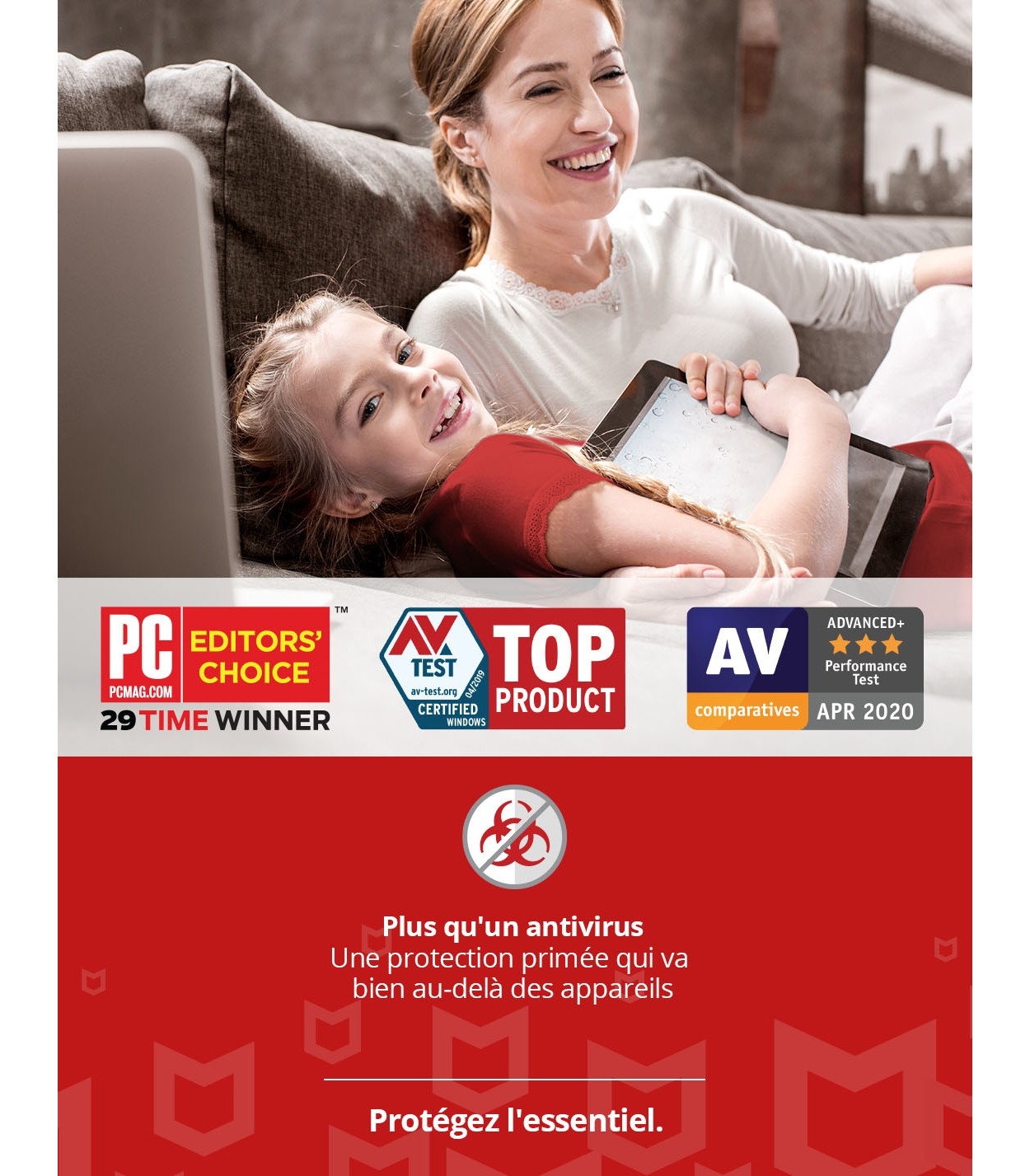 McAfee Total Protection 2021   3Appareils - 1 an   Windows - Mac - Android - iOS
