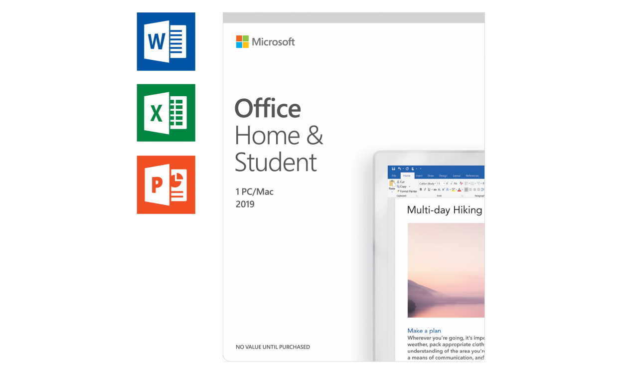 Microsoft Office 2019 Home & Student Windows + Mac