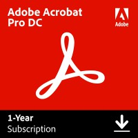 Adobe Creative Cloud; All software for the graphic professional: Adobe Acrobat Professional DC Multi-Language 1User 1Year