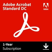 Adobe Creative Cloud; All software for the graphic professional: Adobe Acrobat Standard DC Multi-Language 1User 1Year