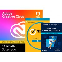 Adobe Creative Cloud; All software for the graphic professional: Adobe Creative Cloud (alle apps) Student & Teacher edition | Subscription| 1Year | 100GB Cloud