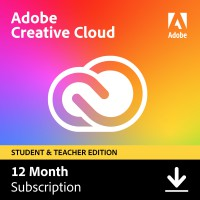 Adobe Creative Cloud (alle apps) Student & Teacher edition | Subscription| 1Year | 100GB Cloud