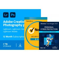Adobe Creative Cloud; All software for the graphic professional: Adobe Photography Plan (Photoshop CC + Lightroom CC) | 1 User | 1year | 1TB cloudstorage