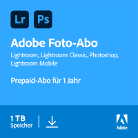 Multimedia: Adobe Creative Cloud Foto-Abo (Photoshop CC + Lightroom CC) | 1 Benutzer | 1 Jahr | 1 TB Cloud-Speicher