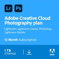Adobe Photography Plan (Photoshop CC + Lightroom CC) | 1 User | 1year | 1TB cloudstorage