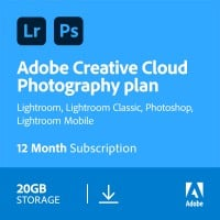 Multimedia: Adobe Photography Plan (Photoshop CC + Lightroom CC) | 1 Gebruiker | 1Jaar | 20GB cloudopslag