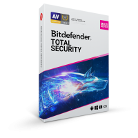 Security: Bitdefender Total Security Multi-Device 2021 5-Devices 1year