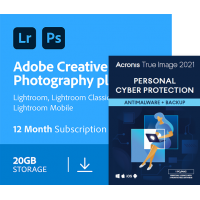 Adobe Photography Plan & Acronis True Image Premium | BUNDEL | 1Jaar