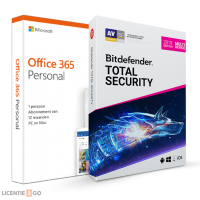 Office: Voordeelbundel: Office 365 Personal + Bitdefender Total Security 5 apparaten 1 jaar
