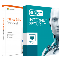 Office: Voordeelbundel: Office 365 Personal + ESET Internet Security Multi Device 5 apparaten 1 jaar