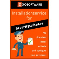 Consumer: Installation service - Help with installation (all-in) - Security software