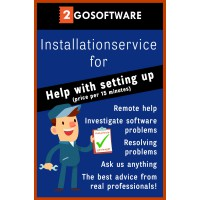 Installation: 2Go Software installation package (price per 15 minutes)