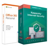 Office: Voordeelbundel: Office 365 Personal + Kaspersky Internet Security 5 apparaten 1 jaar