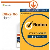 Norton Security Deluxe: Voordeelbundel: Office 365 Home + Norton Security Deluxe 5 devices 1 year