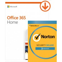 Office: Voordeelbundel: Office 365 Home + Norton Security Deluxe 3 apparaten 1 jaar