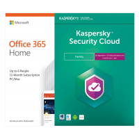 Office: Voordeelbundel: Office 365 Home 6 Gebruiker + Kaspersky Security Cloud Family | 20 apparaten | 1 jaar