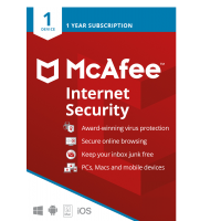 McAfee Internet Security 2021 | 1Device - 1 Year | Windows - Mac - Android - iOS