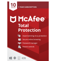 Total Security: McAfee Total Protection Multi-Device 10Devices 1year 2021