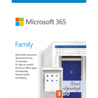Microsoft 365: Microsoft 365 Family | 6 Users - 1 Year | Including Updates