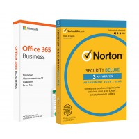 Office: Voordeelbundel: Office 365 Business - jaarabonnement + Norton Security Deluxe 3 Apparaten