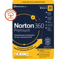 VPN + Antivirus: Norton 360 Premium | 10-Devices | 1-Year | 2021 | Windows | Mac | Android | iOS | 75GB Cloud Storage