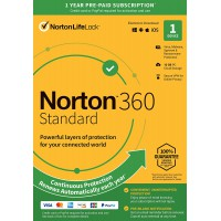 Norton Security - Purchase at 2GOSoftware: Norton 360 Standard | 1Device - 1Year | Windows - Mac - Android - iOS | 10Gb Cloud Storage