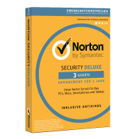 Norton Security Deluxe | 3-Geräte | 1-Jahr 2021 - Virenschutz inklusive - Windows | Mac | Android | iOS