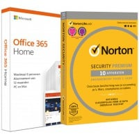 Total Security: Voordeelbundel: Norton Security Premium 10-apparaten + Office 365 Home 5-apparaten