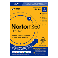 Total Security: Norton 360 Deluxe | 5Devices - 1Year | Windows - Mac - Android - iOS | 50Gb Cloud Storage