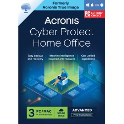 Backup: Acronis Cyber Protect Home Office Advanced 2022| 3-PC | 1-Jaar | 250 GB cloud back-up