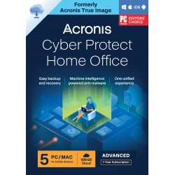 Backup: Acronis Cyber Protect Home Office Advanced 2022| 5-PC | 1-Jaar | 250 GB cloud back-up