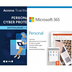 Cloud Backup: Acronis True Image Advanced 2021 + Microsoft 365 Personal | 1Device | 1Year